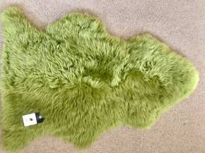 Lime green, single, shaggy